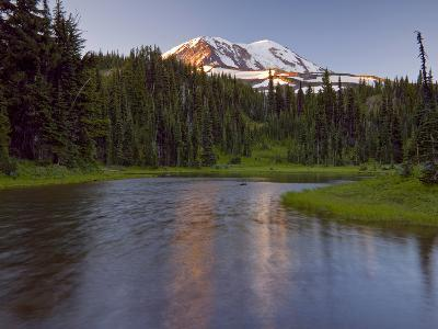 Mt. Adams Wilderness Area with a Coniferous Forest and a Tarn, Washington, USA-David Cobb-Photographic Print