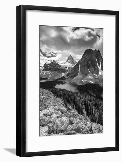 Mt. Assiniboine and Lake Magog from the Nublet-Howie Garber-Framed Photographic Print