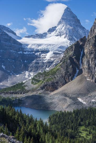 Mt. Assiniboine and Sunburst Lake as Seen from the Nublet-Howie Garber-Photographic Print