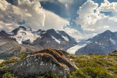 Mt. Athabasca, and Mt. Andromeda and Columbia Icefield, Jasper NP-Howie Garber-Photographic Print