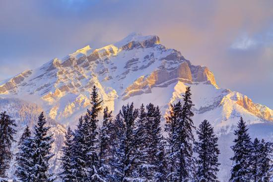 Mt. Cory from the town of Banff, Canadian Rockies, Alberta, Canada-Stuart Westmorland-Photographic Print