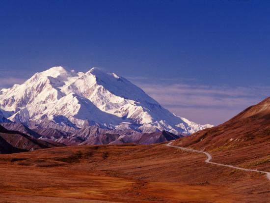 Mt. Denali from Stony Hill in Fall, Mt. McKinley, Alaska, USA-Charles Sleicher-Photographic Print