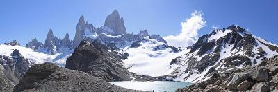 Mt Fitz Roy and Laguna Los Tres, Panoramic View, Fitzroy National Park, Argentina-Mark Taylor-Photographic Print