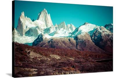 Mt. Fitz Roy Los Glaciares--Stretched Canvas Print