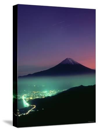 Mt. Fuji and City Lights, Viewed from Mitsu Tohge, Yamanashi, Japan