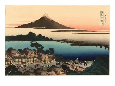 Mt. Fuji and Japanese Village--Art Print