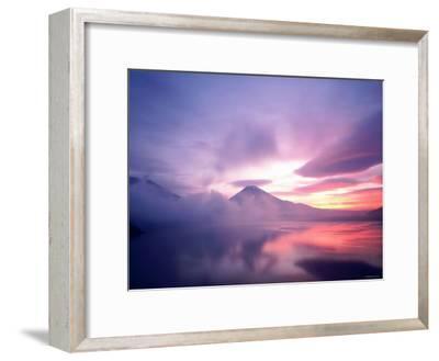 Mt. Fuji at Dawn, Viewed from Lake Motosu, Yamanashi, Japan