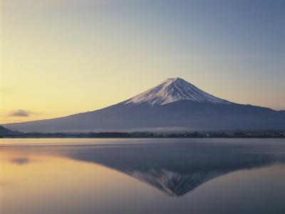 Mt. Fuji reflected in lake, Kawaguchiko, Yamanashi Prefecture, Japan--Photographic Print