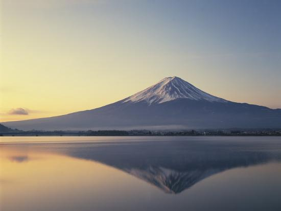 Mt Fuji Reflected In Lake Kawaguchiko Yamanashi
