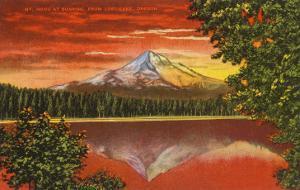 Mt. Hood at Sunrise, Lost Lake, Oregon