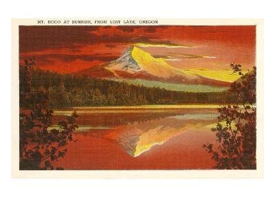 Mt. Hood at Sunset, Lost Lake, Oregon--Art Print