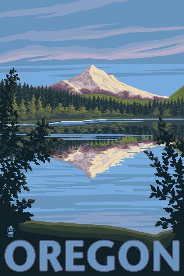 Mt. Hood from Lost Lake, Oregon-Lantern Press-Art Print