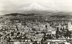 Mt. Hood over Portland, Oregon