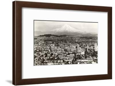 Mt. Hood over Portland, Oregon--Framed Art Print