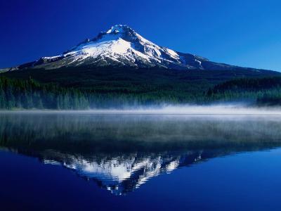 Mt. Hood Over Trilium Lake, Mt. Hood, USA-John Elk III-Photographic Print