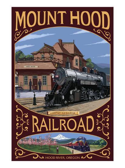 Mt. Hood Railroad - Hood River, Oregon, c.2008-Lantern Press-Art Print