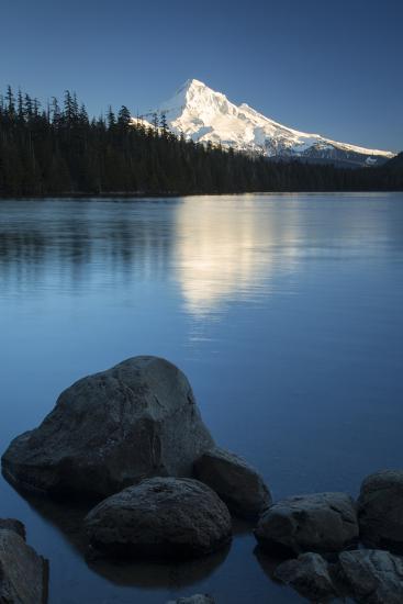 Mt Hood Rises Above Lost Lake, Cascade Mountains, Oregon, USA-Brian Jannsen-Photographic Print
