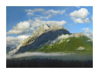 Mt Kidd with slopes covered in coniferous forest, Kananaskis Country, Alberta, Canada-Tim Fitzharris-Art Print