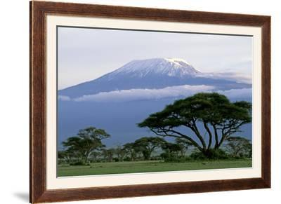 Mt Kilimanjaro in Tanzania--Framed Photographic Print