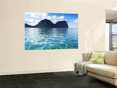 Mt Lidgbird (L) and Mt Gower (Rt) from the Lagoon.-Michael Gebicki-Wall Mural