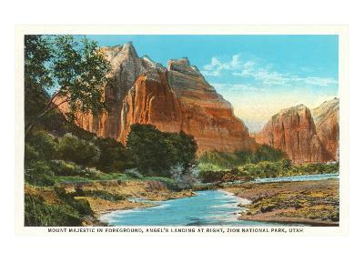 Mt. Majestic, Zion National Park, Utah--Art Print