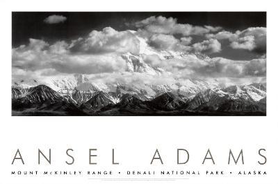 Mt. McKinley Range, Clouds, Denali National Park, Alaska, 1948-Ansel Adams-Art Print