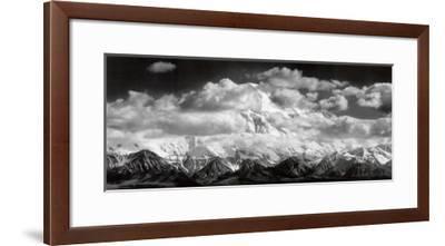 Mt. McKinley Range, Clouds, Denali National Park, Alaska, 1948-Ansel Adams-Framed Art Print