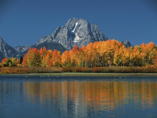 Mt. Moren, Oxbow Bend, Grand Tetons National Park, Wyoming, USA-Dee Ann Pederson-Photographic Print