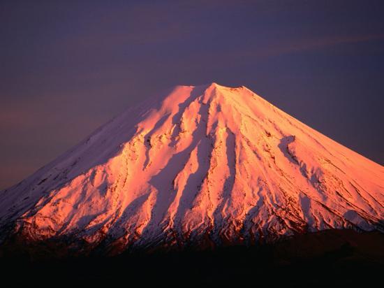 Mt. Ngauruhoe Illuminated in Sunlight, Tongariro National Park, Manawatu-Wanganui, New Zealand-David Wall-Photographic Print