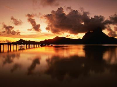 Mt. Otemanu and Lagoon at Sunset, French Polynesia-Peter Hendrie-Photographic Print