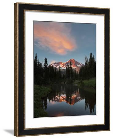 Mt Rainier Reflected in Mirror Pond, Mt Rainier NP, Washington, USA-Gary Luhm-Framed Photographic Print