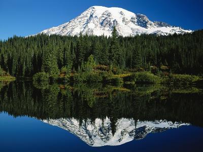 Mt. Rainier Reflecting in Lake-Craig Tuttle-Photographic Print