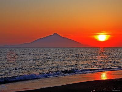 Mt. Rishiri at Sunset--Photographic Print