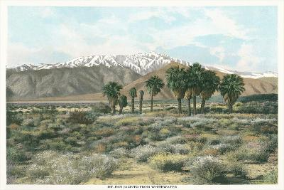 Mt. San Jacinto from Whitewater--Art Print