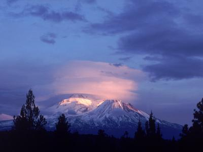 Mt. Shasta at Dusk-Mark Gibson-Photographic Print