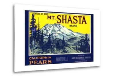 Mt. Shasta Pear Label