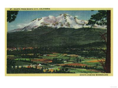 Mt. Shasta View from Shasta City - Shasta, CA-Lantern Press-Art Print