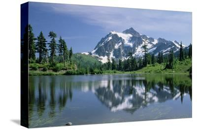Mt Shuksan, northern Cascade Mountains, Washington-Tim Fitzharris-Stretched Canvas Print