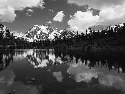 Mt Shuksan with Baker Lake, North Cascades National Park, Washington, USA-Adam Jones-Photographic Print