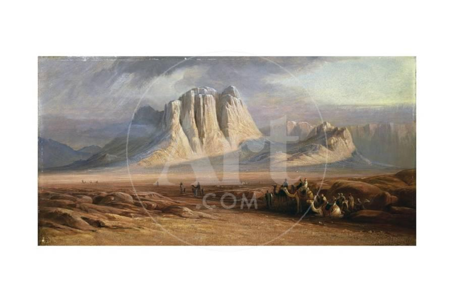 Mt  Sinai, Egypt Giclee Print by Edward Lear | Art com