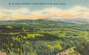 Mt. St. Helens, Mt. Rainier, Mt. Adams