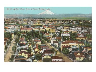 Mt. St. Helens over Portland, Oregon--Art Print