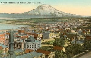 Mt. Tacoma and Downtown Tacoma, Washington