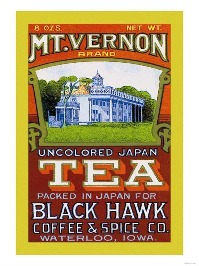 Mt. Vernon Brand Tea--Art Print