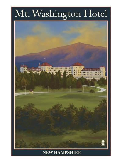 Mt. Washington Hotel, Bretton Woods, Nh, c.2008-Lantern Press-Art Print