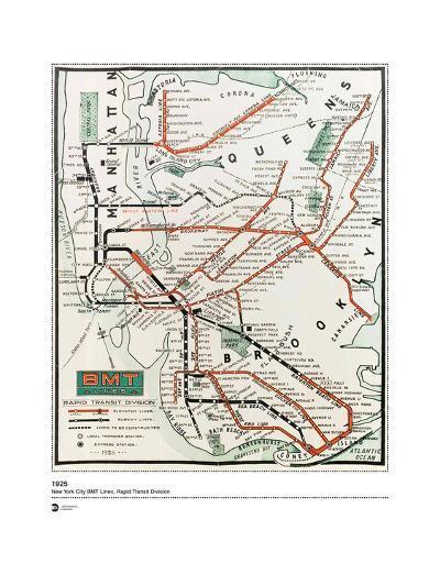 MTA Map 1925--Art Print