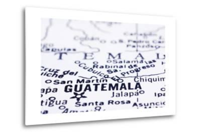 Close Up Of Guatemala On Map