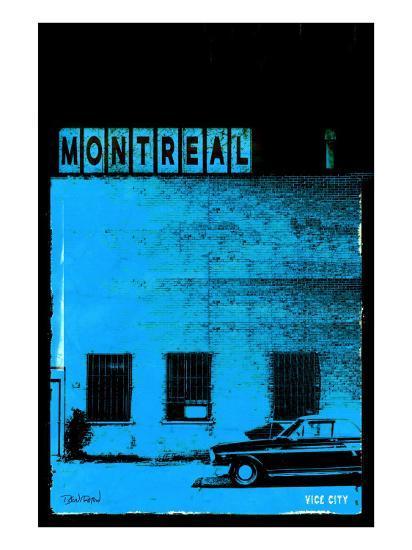 MTL Vice City - Blue-Pascal Normand-Art Print