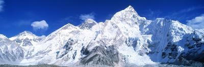 Mts Everest and Nuptse Sagamartha National Park Nepal--Photographic Print