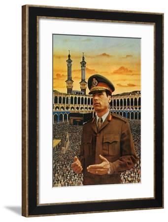 Muammar Gaddafi--Framed Giclee Print
